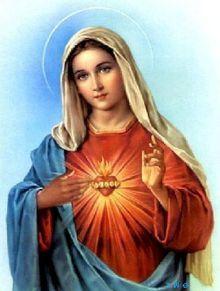 maria szeplotelen szive